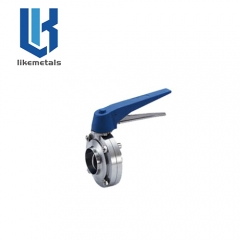 Handle weld butterfly valve