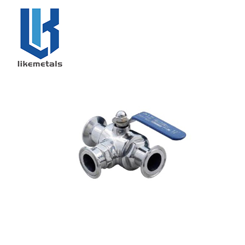 Quick install three way ball valve