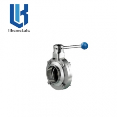Weld type butterfly valve