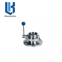 Single flange thread butterfly valve